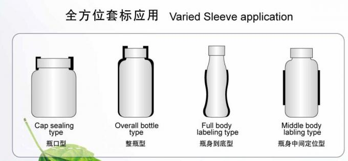Curve shrink sleeve applicator machine for variat bottle type HTP-200P