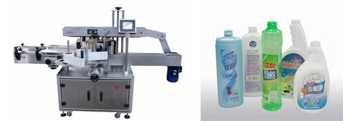 Cosmetic Bottle Sticker Round Bottle Labeling / Self Adhesive Labelling Machine