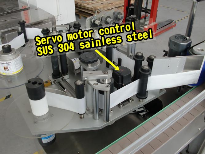 Intelligent control Double Side Bottle Labeler Machine with collection surface