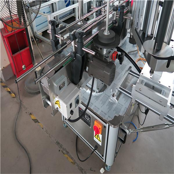 Double Side Sticker Labeling Machine , Automatic Label Applicator Machine