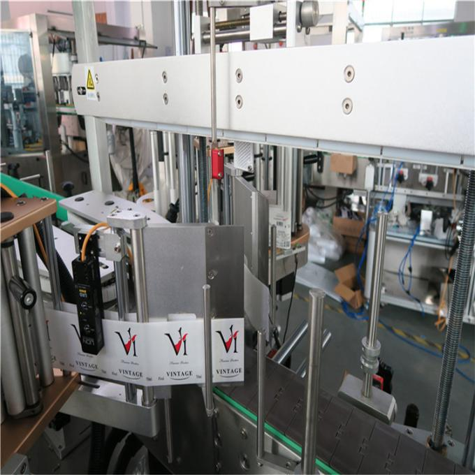 CE Automatic Sticker Labeling Machine , Front And Back Bottle Labeler Machine