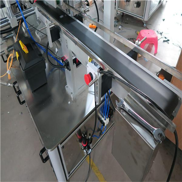 Three Sides Automatic Square Bottle Labeling Machine Electric Driven Type
