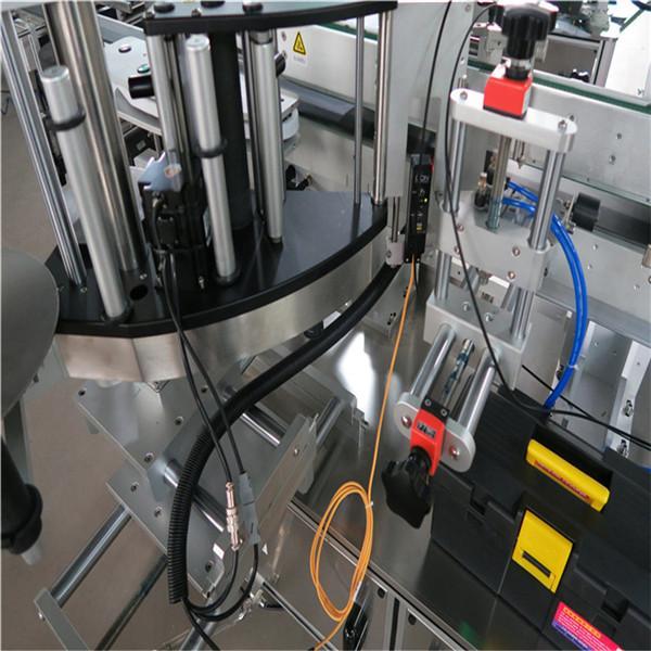 Square Bottle Labeling Machine , Double Side Bottle Sticker Labeling Machine