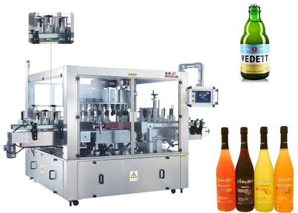 Three Faces Location aAutomatic Sticker Labeling Machine Rotary System Machinery