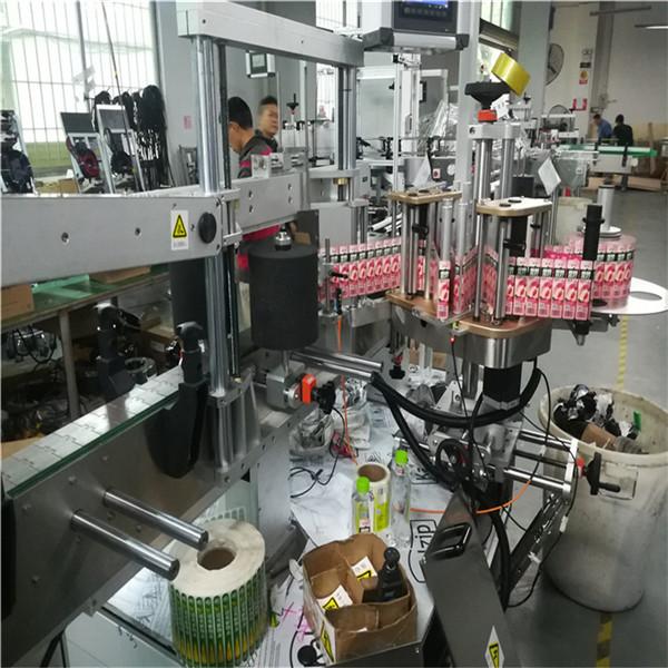 Double Side Sticker Labeling Machine For Rectangular Square Jars Oil Bottle