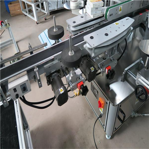 Wine Bottle Labeling Machine Double Sided Chile Santa Maria Electric Driver