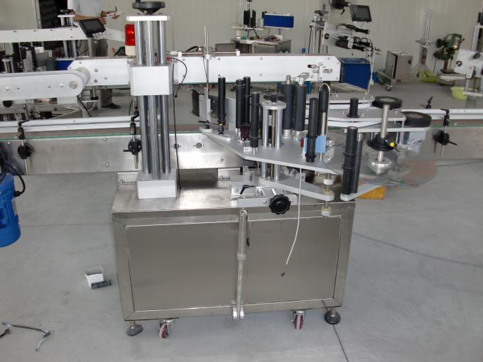 Plastic and glass bottles PLC control automatic double side sticker labelling machine servo motor
