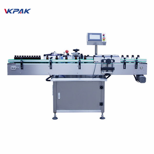 350ml Self Adhesive Sticker Labeling Machine For Round Vial 1.5kw