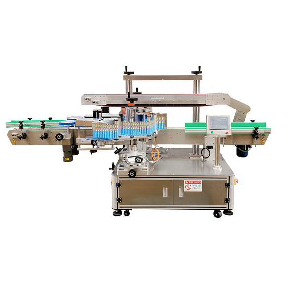 Auto Sticker Double Side Plastic Bottle Labeling Machine 12 Months Warranty