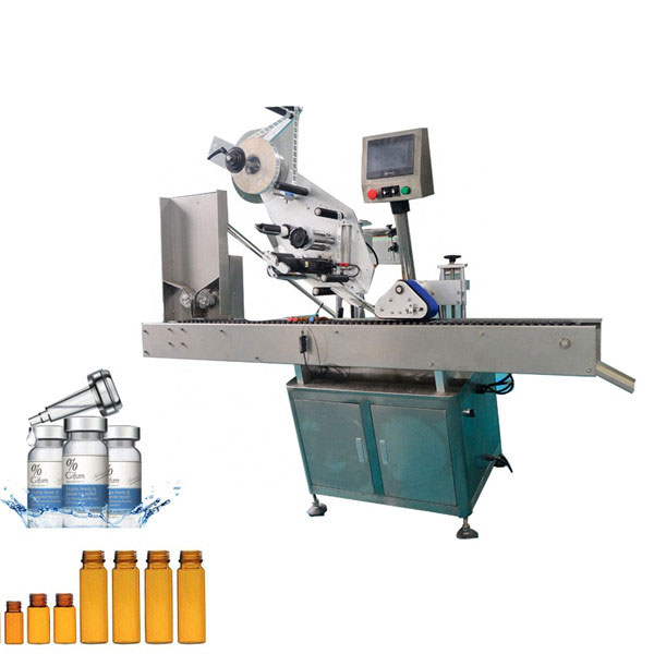 Automatic Chewing Gum Vial Labeling Machine For 10ml Small Round Bottle