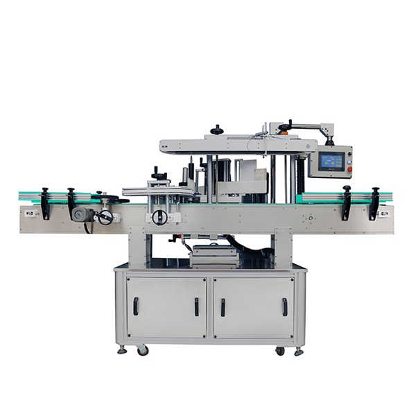 Automatic Double Side Sticker Labelling Machine For Shampoo Oval And Flat Bottles
