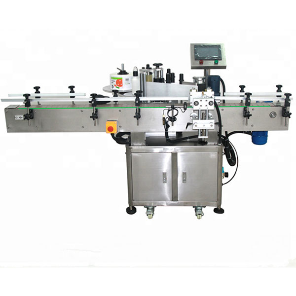 Automatic Double Sided Sticker Labeling Machine Flat Square Bottle Round Bottle