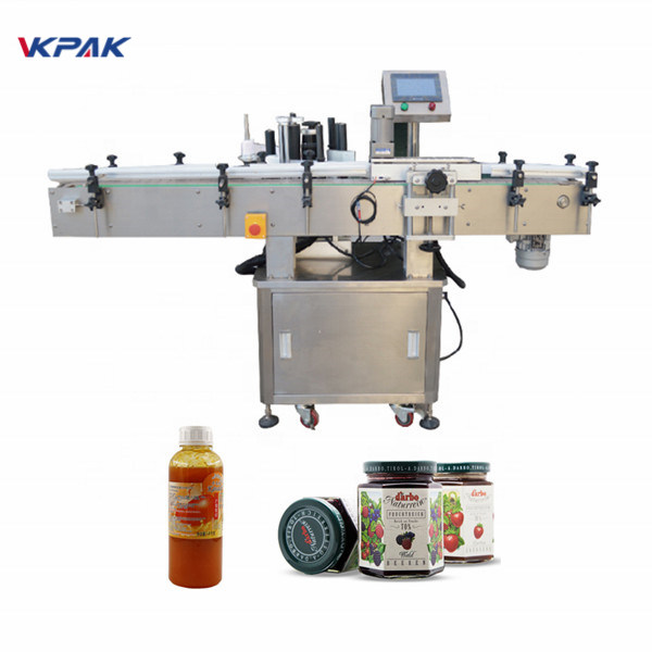 Automatic Self Adhesive Sticker Vial Round Bottle Labeling Machine For Soft Tube