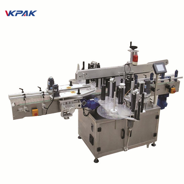 Beverage Industry Round Bottle Sticker Labeling Machine Electric Driven Type