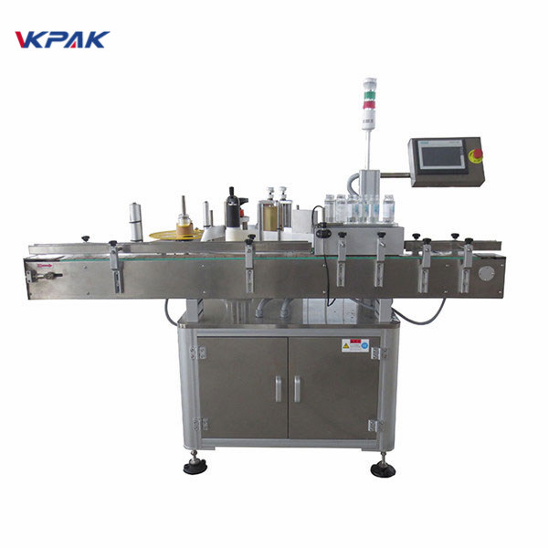 CE Round Bottle Sticker Labeling Machine For PET Beverage