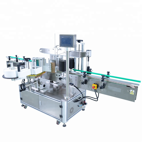 Customized Automatic Label Applicator Machine For Round Detergent Bottle