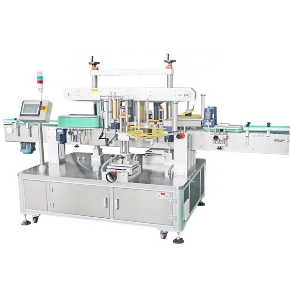 Double Side Sticker Labeling Machine , Automatic Label Applicator Machine