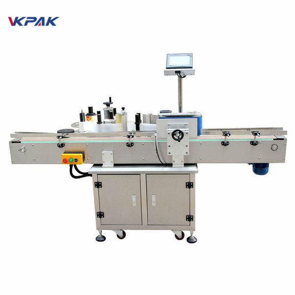 Easy Operation Round Bottle Sticker Labeling Machine Stainless Steel Material