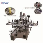 Fixed Point Self Adhesive Vertical Wrap Around Labeling Machine For Oil Bottle