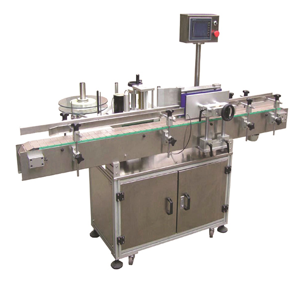 Flexible Spoke Automatic Sticker Labeling Machine With Double Side Paper Bags