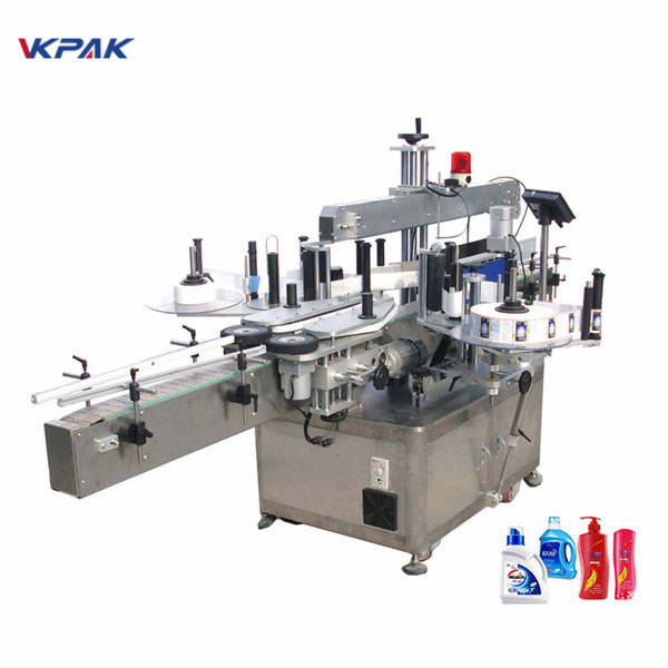 Full Automatic Double Side Sticker Labelling Machine Flat Label Applicator