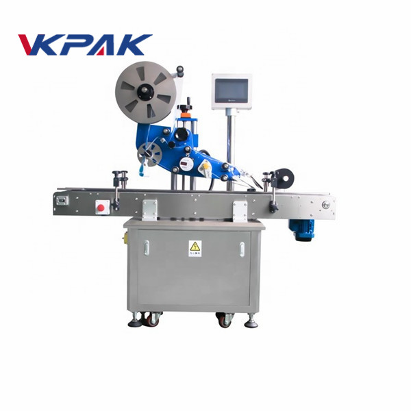 GMP Electric Flat Automatic Sticker Labeling Machine For Plane Bottle
