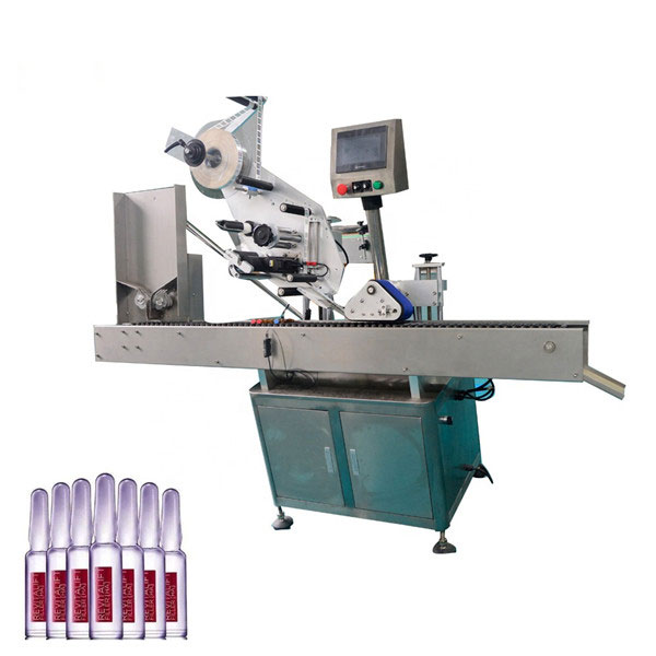 Intelligent Control Sus304 Economy Automatic Cosmetics Vial Labeling Machine