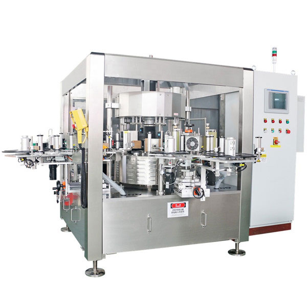Juice Beer Bottle Onefold Rotary Sticker Labeling Machine