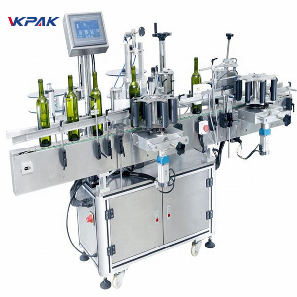 Multiple - Purpose Stick Round Bottle Labelling Machine For Red Wine PLC Control