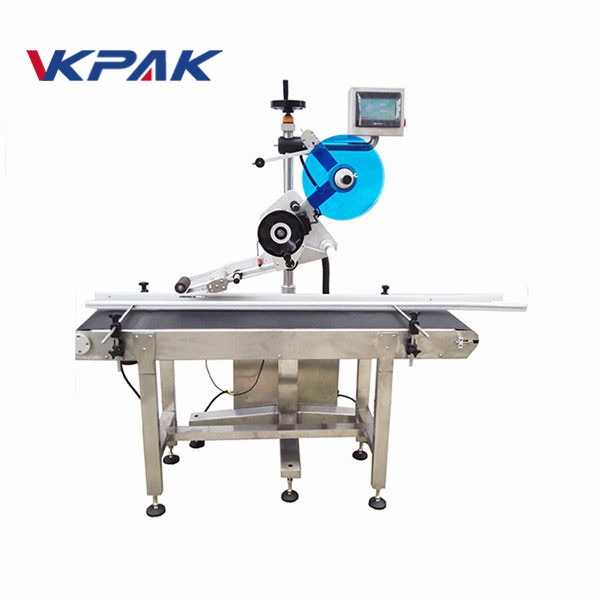 Nozzle Pouch Labeling Machine Self Adhesive Label On Top Labeler
