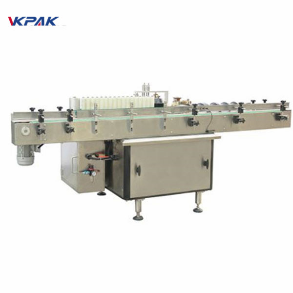 Plastic Cosmetics Vial Labeling Double Side Sticker Labelling Machine