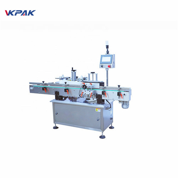 Round Bottle Cold Glue Flat Surface Label Applicator Machine
