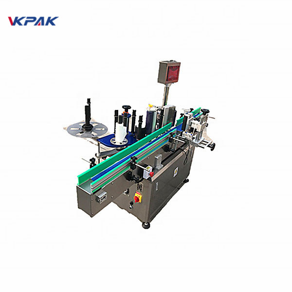 Round Bottle Sticker Labeling Machine With Beverage