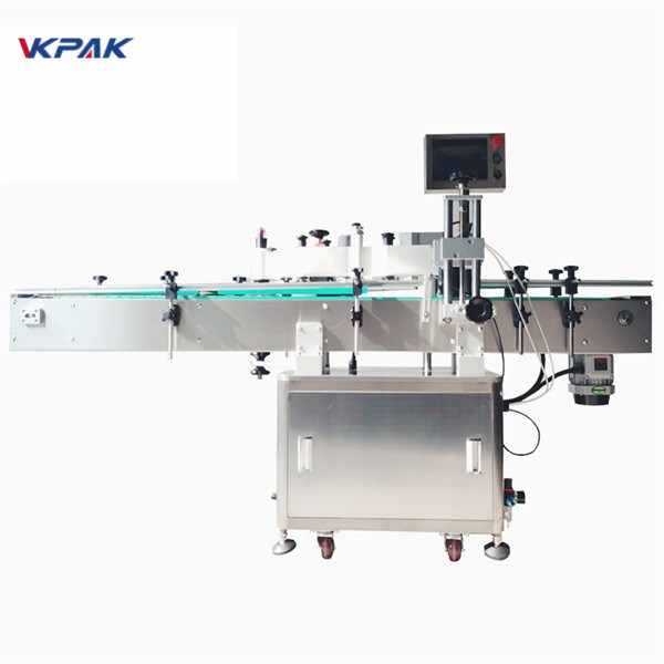 Round Bottle Sticker Labeling Machine With Imported High Accuracy Magic Eye