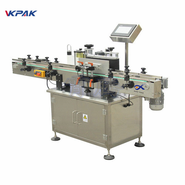 Round Bottle Sticker Labeling Machine Wrap Around Label Applicator
