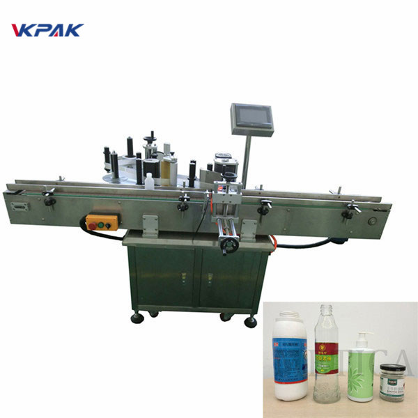 Self-Adhesive Double Sides Round Bottle Automatic Can Labeling Machine