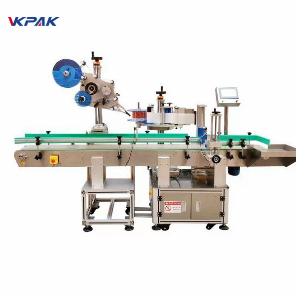 Self - Adhesive Round Bottle Sticker Labeling Machine With Bottle Separator
