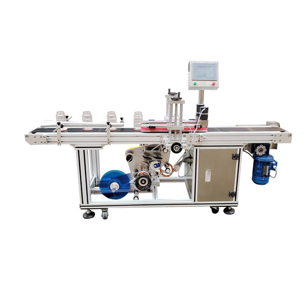 Self Adhesive Sticker Bottom Labeling Machine Automatic Electric Driven Type