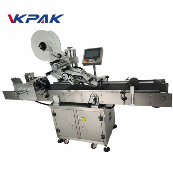 Small Round Bottle Automatic Labeling Machine With Collection Worktable