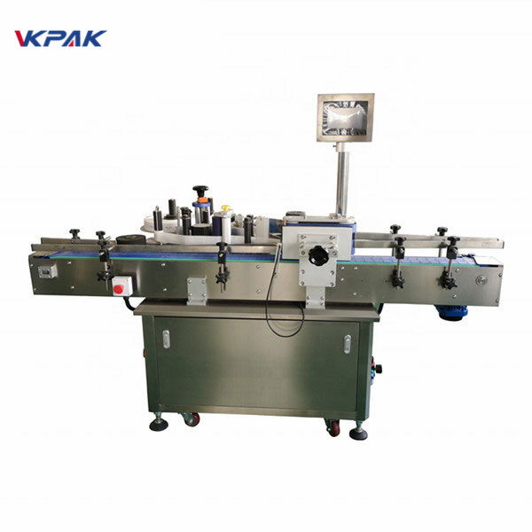 Standard Automatic Round Bottle Labeling Machine Front And Back