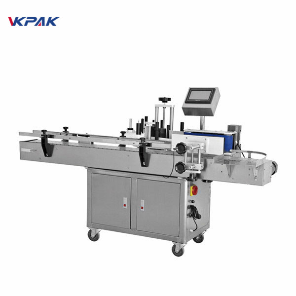 Vertical Adhesive Or Sticker Round Bottle Labeling Machine