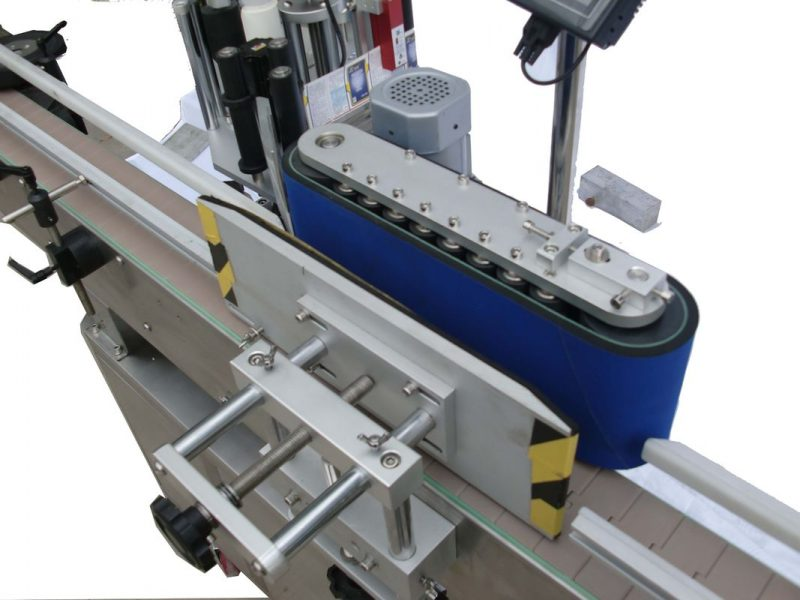 China HAY SUS304 Servo Motor Automatic Round Bottle Labeling Machine PLC control supplier