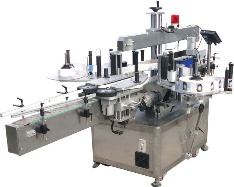 China up-press mechanism top bottles automatic bottle labeler machine with CE certificate supplier