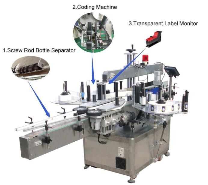 China high speed servo motor self adhesive sticker labeling machine for square or round bottles with CE certificate supplier