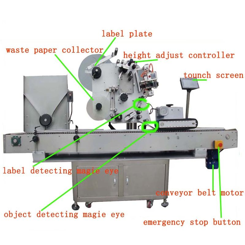 China Hg Haw 150 Full - Automatic Vial Labeling Machine Servo Motor PLC Control supplier