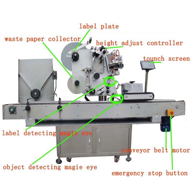 China Hg Haw 150 Full - Automatic Vial Labeling Machine Servo Motor PLC Control supplier