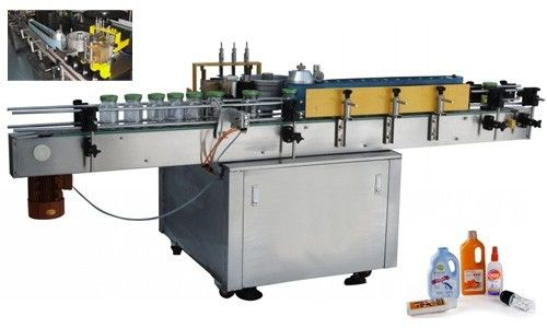 China Automatic Cold Glue Label Applicator Machine For Round Bottle Customized supplier