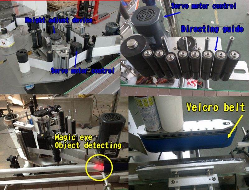 China Cosmetic Bottle Sticker Round Bottle Labeling / Self Adhesive Labelling Machine supplier