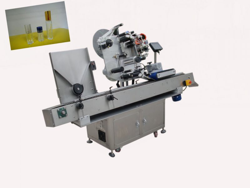 China High speed SUS304 Economy Automatic abrasive disc vial labeling machine for 20-90 label hight supplier