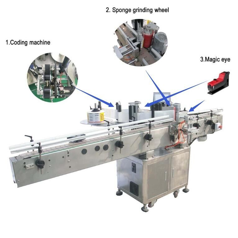 China Large Flat Surface Object Self Adhesive Sticker Labeling Machine Siemens PLC Controller supplier